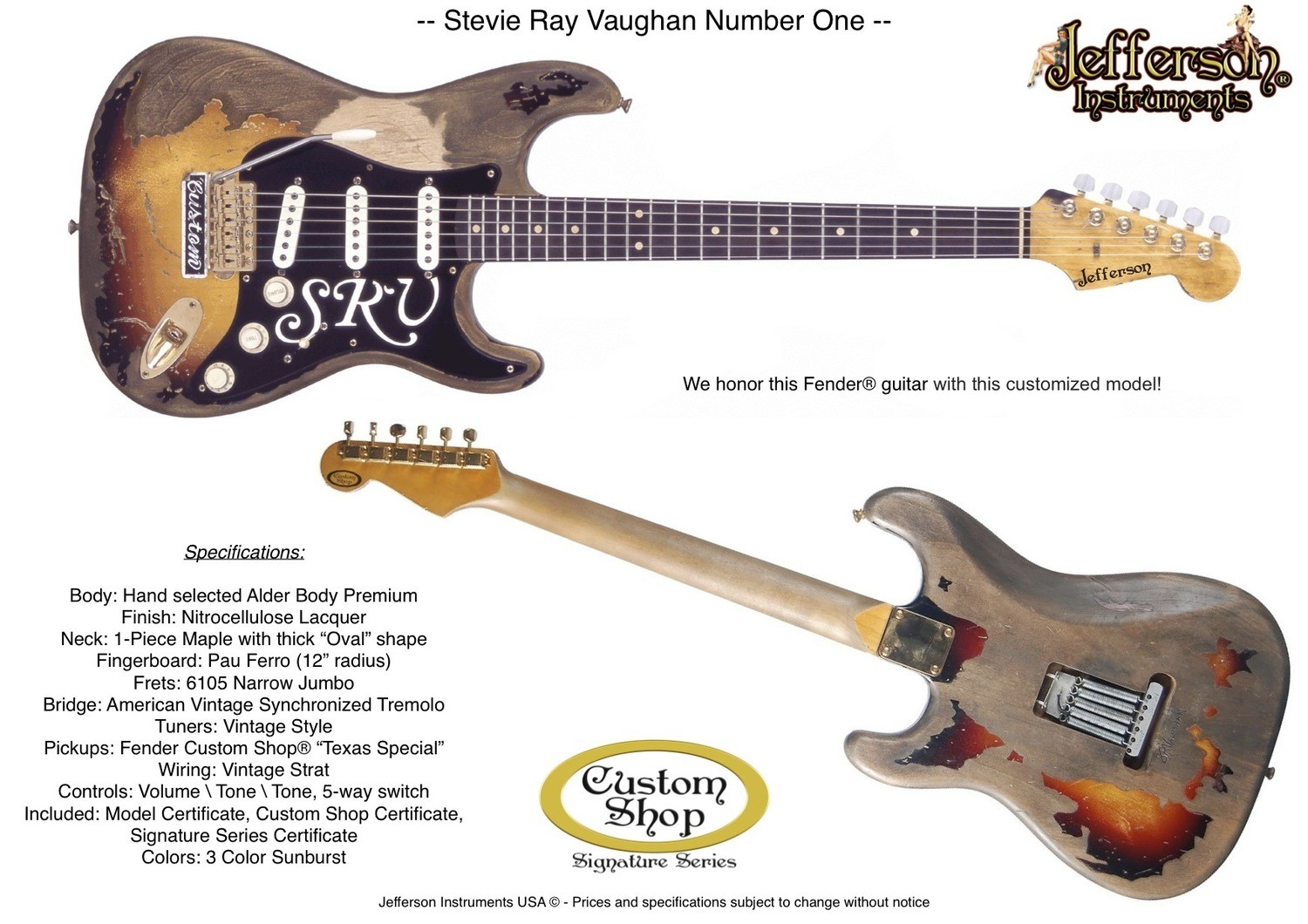 Strat Custom Shop Stevie Ray Vaughan