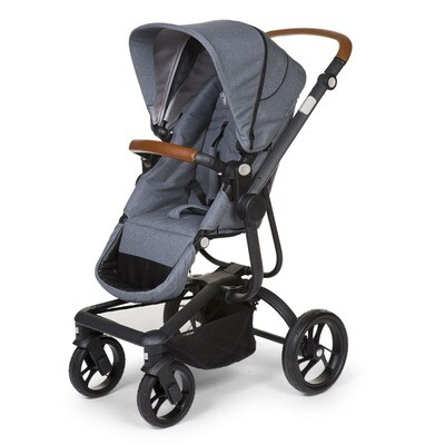 Childwheels Buggy Kinderwagen URBANISTA 2 IN 1 CANVAS GRAU