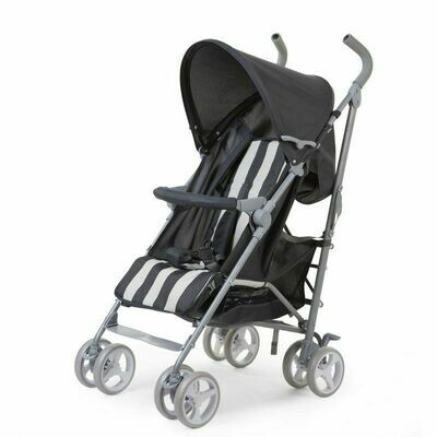 Childwheels BUGGY 5 POSITIONEN ALU GRAU WEISS RETRO STRIPES + RC+BU