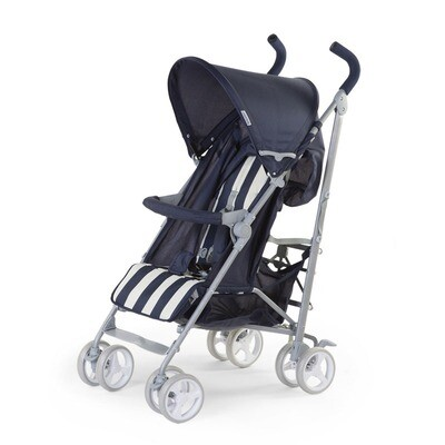 Childwheels BUGGY 5 POSITIONEN ALU BLAU WEISS RETRO STRIPES + RC+BU