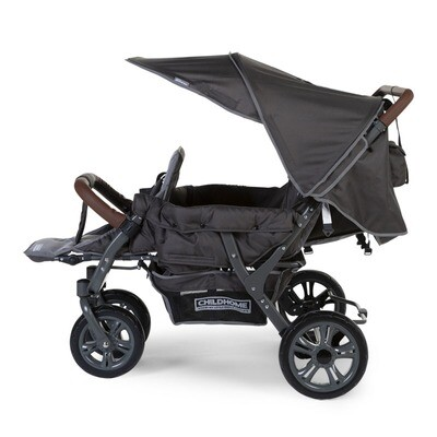 Childhome NEUER QUADRUPLE AUTOBRAKE VIERLING-SPORTWAGEN ANTHRAZIT +RS+S