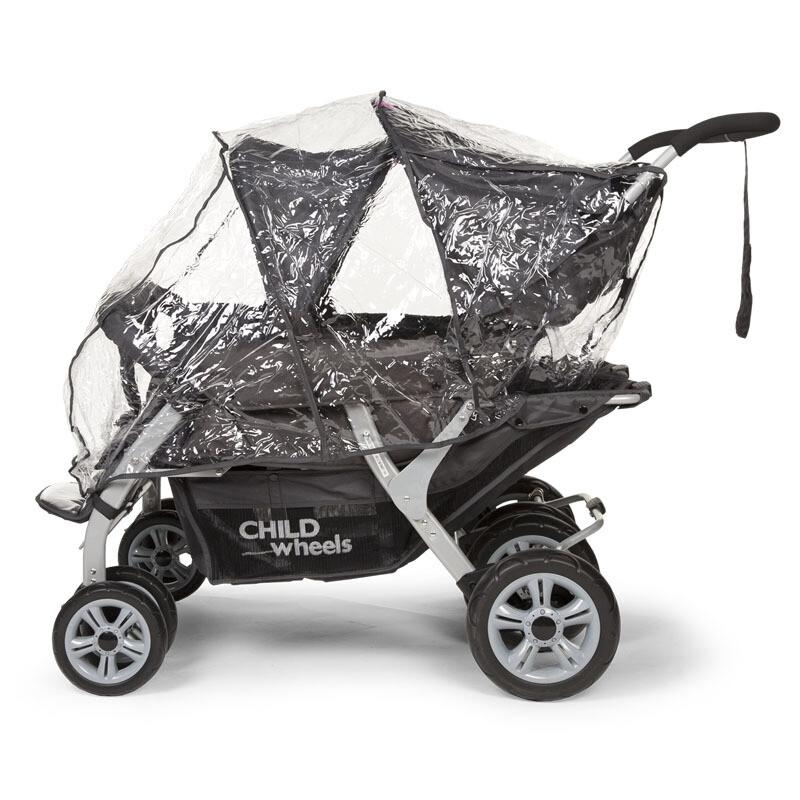 CHILDWHEELS REGENSCHUTZ für Vierlings-Wagen Quadruple CWQD