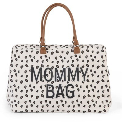 CHILDHOME MOMMY BAG CANVAS LEOPARD Wickeltasche