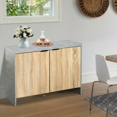 HOMCOM® Sideboard Kommode Dielenschrank Holzfarbe 100 x 40 x 75cm