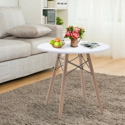 HOMCOM® Couchtisch Beistelltisch Kaffeetisch Teetisch Nachttisch rund Holz + Metall Ø60 x H55 cm