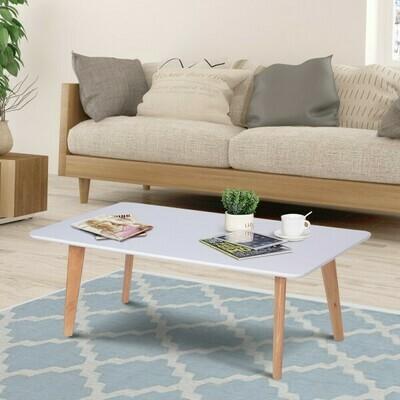 HOMCOM® Couchtisch Wohnzimmertisch Beistelltisch Kaffeetisch Teetisch viereckig Holz 120 x 70 x 45 cm