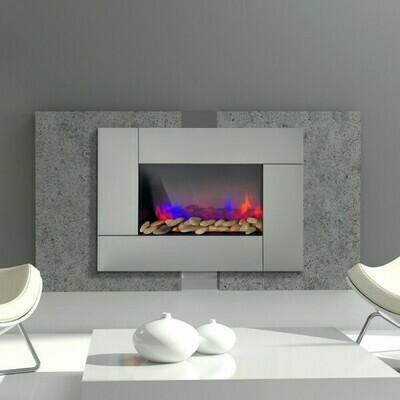 HOMCOM® Wandkamin Elektrokamin Elektrischer Kamin 900/1800 Watt LED Flammen Fernbedienung