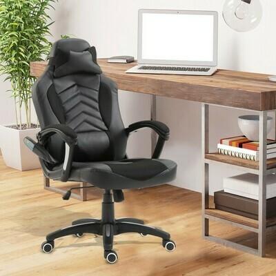 HOMCOM® Bürostuhl Ergonomisch Massagesessel Gaming Stuhl Schwarz