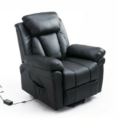 HOMCOM® Elektrischer Fernsehsessel schwarz mit Aufstehhilfe