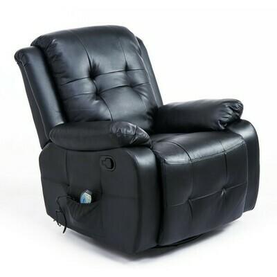 HOMCOM® Massagesessel mit Wärmefunktion TV Sessel mit Fernbedienung schwarz