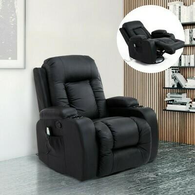 HOMCOM® Massagesessel Wärmefunktion mit Fernbedienung schwarz