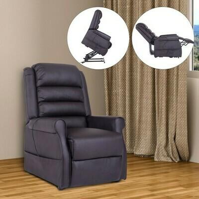 HOMCOM® Massagesessel Elektrischer Sessel mit Aufstehhilfe braun