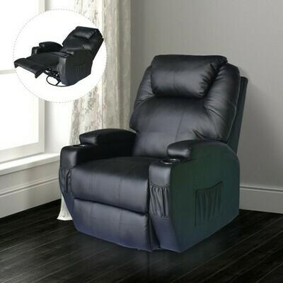 HOMCOM® Massagesessel - TV Sessel mit Vibrationsmassage und Wärmefunktion, schwarz