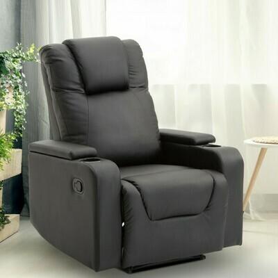 HOMCOM® Relaxsessel mit Armlehnen Fernsehsessel Schwarz