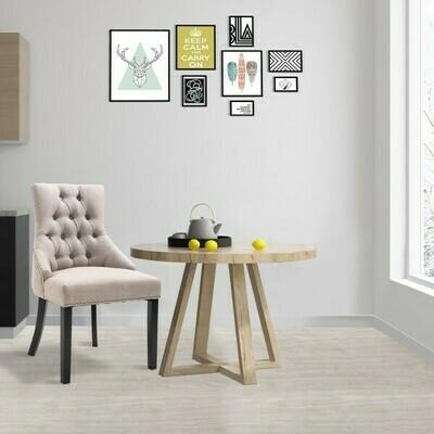 HOMCOM® Esszimmerstuhl Küchenstuhl Polsterstuhl Gummiholzbeine Sessel Leinen Grau