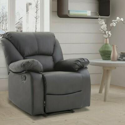 HOMCOM® Relaxsessel Fernsehsessel mit Liegefunktion Schwarz Verstellbar