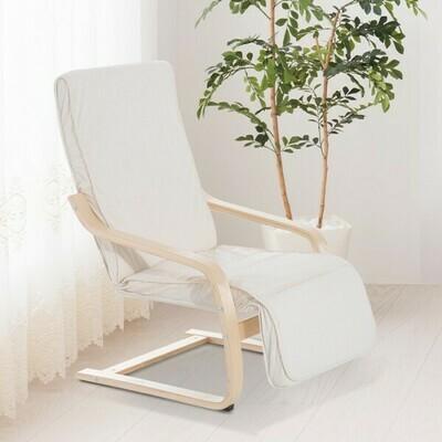 HOMCOM® Relaxsessel Relaxstuhl Sessel Auflage Creme