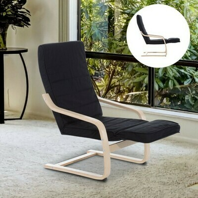 HOMCOM® Relaxsessel Relaxstuhl Sessel Auflage schwarz
