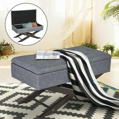 HOMCOM® Sitzbank mit Stauraum Aufbewahrungsbox Polsterbank Grau