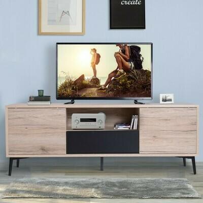 HOMCOM® Fernsehtisch Fernsehschrank TV-Board Lowboard Holz