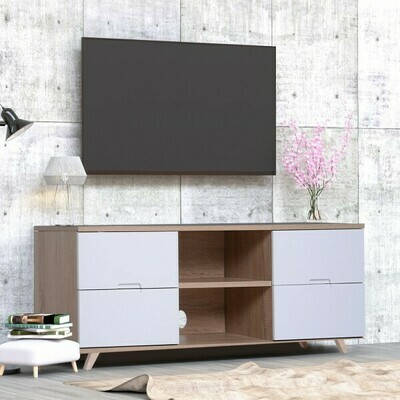 HOMCOM® Fernsehtisch Fernsehschrank TV-Board Lowboard TV-Schrank Unterschrank 4 x Schublade 2 x Ablage