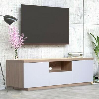 HOMCOM® Fernsehtisch Fernsehschrank TV-Board Lowboard TV-Schrank Unterschrank 1 x Schublade 2 x Schränke
