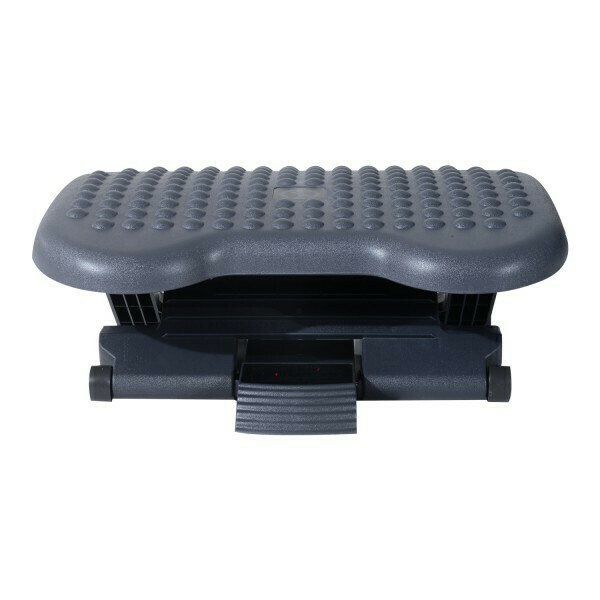 HOMCOM® Fussstütze Fussablage für Büro höhenverstellbar schwarz