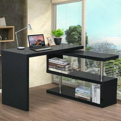 HOMCOM® Computertisch Winkelschreibtisch PC Tisch schwarz