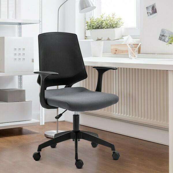 Vinsetto® Drehstuhl Bürostuhl Chefsessel Schreibtischstuhl rollbar höhenverstellbar ergonomisch gepolstert Grau