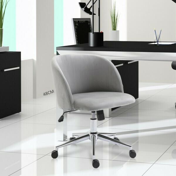 Vinsetto® Drehstuhl Polsterstuhl Chefsessel 150 kg Belastbarkeit eingestellte Sitzhöhe Samt