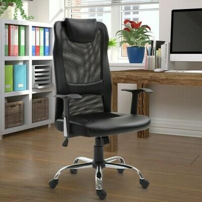 Vinsetto® Bürostuhl Drehstuhl höhenverstellbar Schreibtischstuhl Gaming Stuhl ergonomisch PU schwarz