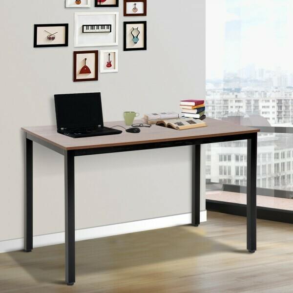 HOMCOM® Computertisch Schreibtisch Bürotisch PC Tisch Walnuss Schwarz