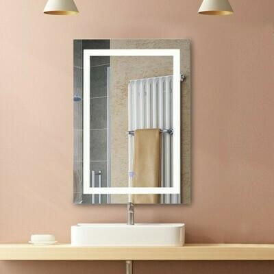 HOMCOM LED Badspiegel   Wandspiegel   Glas, Aluminium   60 x 80 x 4cm