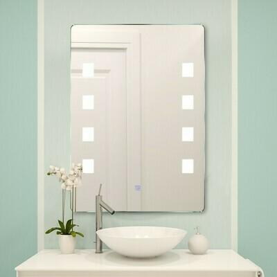 HOMCOM® Lichtspiegel Badspiegel LED Spiegel Wandspiegel 50 x 70 x 4cm