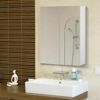 HOMCOM® Spiegelschrank Badezimmerschrank Hängeschrank 75 x 60 x 15 cm