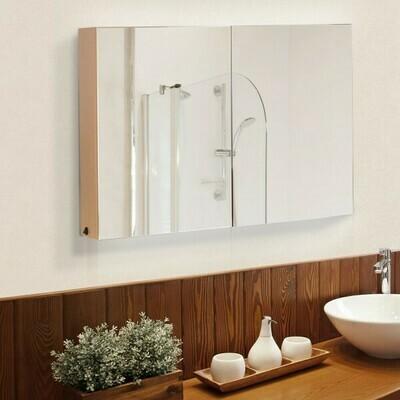 HOMCOM® Spiegelschrank mit LED Leuchtstreifen