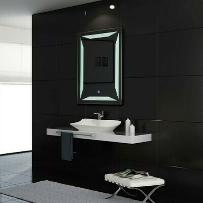 HOMCOM® Badspiegel mit LED Wandspiegel Alu 36W