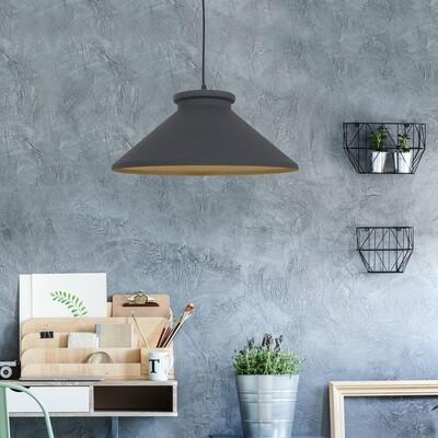 HOMCOM® Vintage Hängelampe | Deckenlampe | 40 W | Metall | ∅37 x 14,5 cm | Schwarz