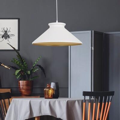 HOMCOM® Hängeleuchte Deckenlampe Industrie Vintage E27 40 W Küche Bar Metall weiss ∅37 x H14,5 cm