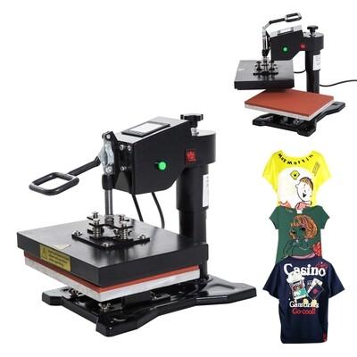 HOMCOM® T-Shirt Transferpresse Textildruck schwenkbar 1500W