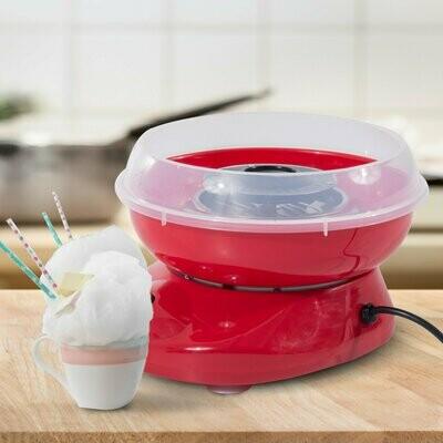 HOMCOM® Zuckerwattemaschine Zuckerwattegerät rot