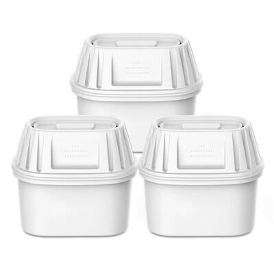 VIOMI® 3er-Pack Filterkartuschen, 7-lagig, kompatibel mit BRITA Wasserfilter (weiss)