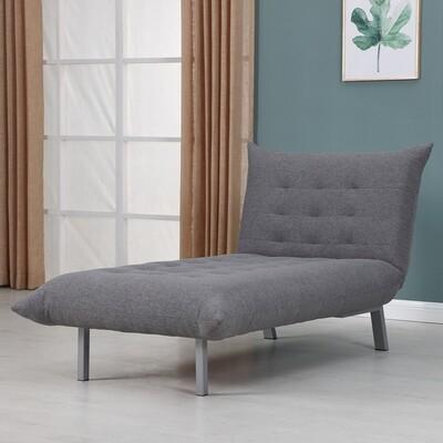 HOMCOM® Relaxliege Chaiselongue Schlafsessel mit Schlaffunktion Leinen Grau