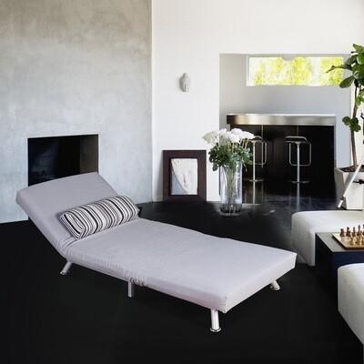 HOMCOM Schlafsofa und Gästebett   Metall, Baumwolle grau
