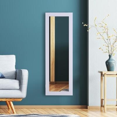 HOMCOM® Spiegelschrank Schmuckschrank mit Innenspiegel ausklappbare Wandspiegel höhenverstellbar Weiss