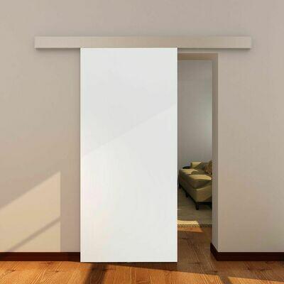HOMCOM® Raumteiler mit Schiebefunktion   Aluminium, MDF   88 x 88 x 203,5 cm   Natur und Weiss