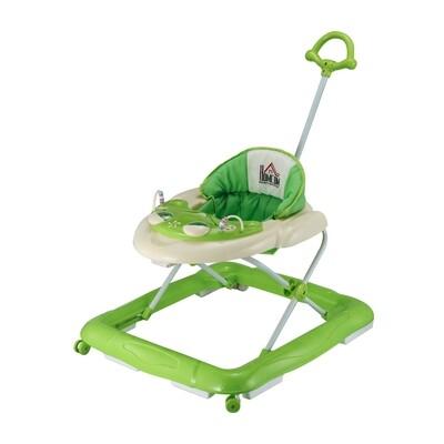 HOMCOM® Laufhilfe für Baby Gehfrei Babywalker Klappbar Höhenverstellbar grün