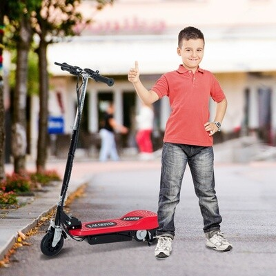HOMCOM® E-Scooter Kinderroller Cityroller 120W klappbar Rot