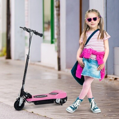 HOMCOM® E-Scooter Kinderroller Cityroller 120W klappbar Rosa