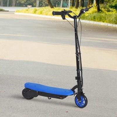 HOMCOM® E-Scooter Tretroller Kinderroller Kinder Roller Metall Blau